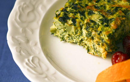 Crustless Quiche with Spinach and Broccoli | The Health Wish