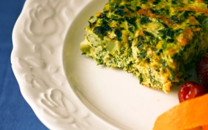 Crustless Quiche with Spinach and Broccoli