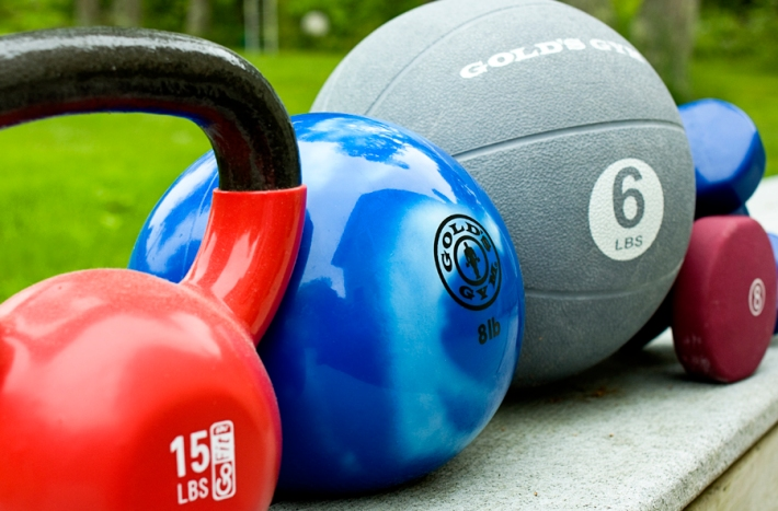Weights and fitness balls